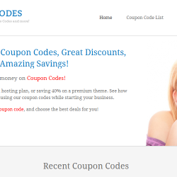 website promotion codes
