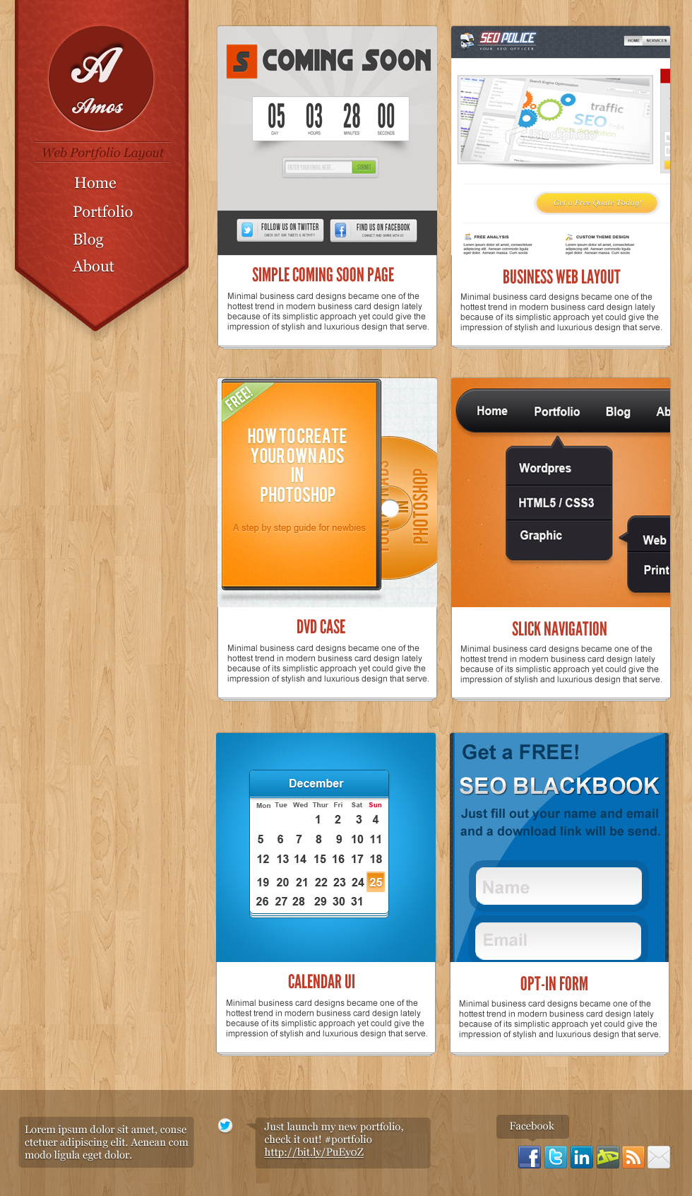 how to create an awesome portfolio layout in photoshop
