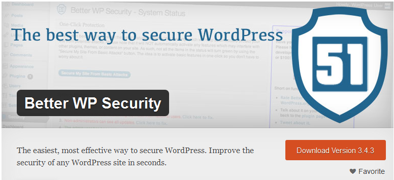 WP better security plugin1 Protect your Wordpress Website with Better WP Security Plugin