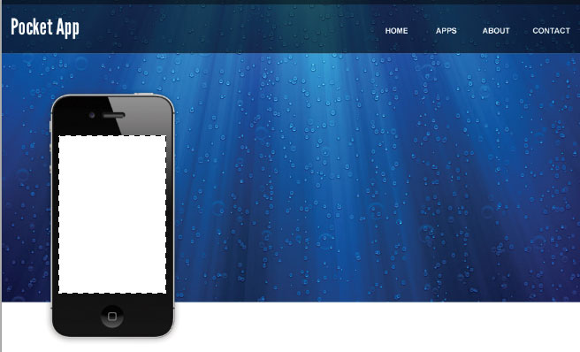 6 header slide How to Create an Iphone App Website in Photoshop