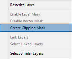 8 clipping mask1 How to Create an Iphone App Website in Photoshop