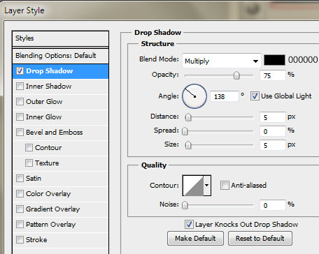 6 navi drop shadow How to Create a Sleek Portfolio Layout in Photoshop