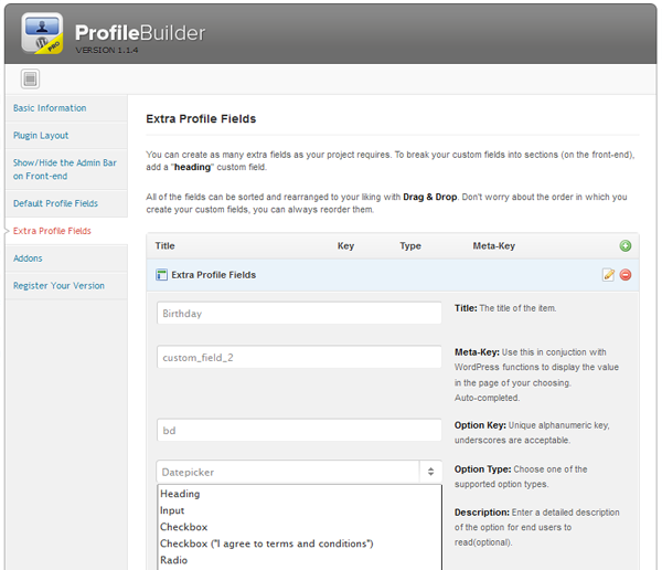 profile builder Wordpress Front end Posting Plugins and Tutorials