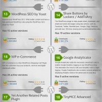 [Infographic] Most Popular WordPress Plugins