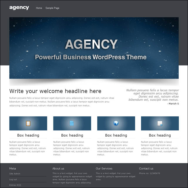 agency 40+ Free Responsive Wordpress Themes