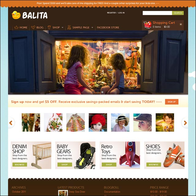 balita wordpress ecommerce theme 40+ Free Responsive Wordpress Themes