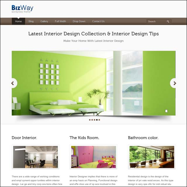 bizway responsive wordpress theme 40+ Free Responsive Wordpress Themes