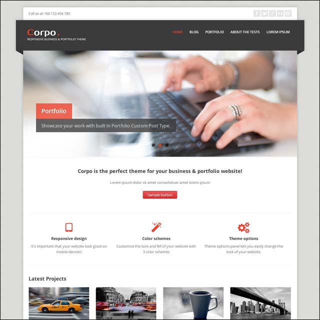 corpo 40+ Free Responsive Wordpress Themes