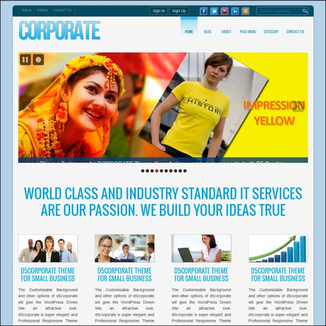 corporate 40+ Free Responsive Wordpress Themes