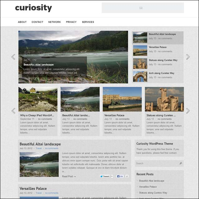 curiosity 40+ Free Responsive Wordpress Themes