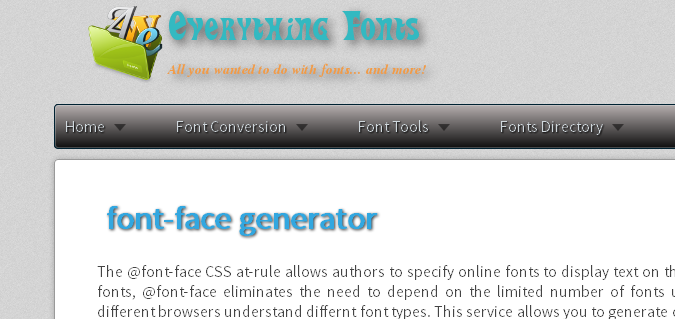 everythingfonts.com  List of Different Font Face Generators