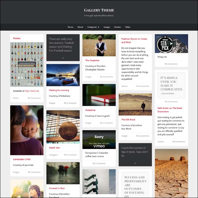 gallery.theme  40+ Free Responsive Wordpress Themes