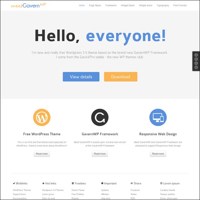 meetgavernwp.wordpress.free .theme  40+ Free Responsive Wordpress Themes