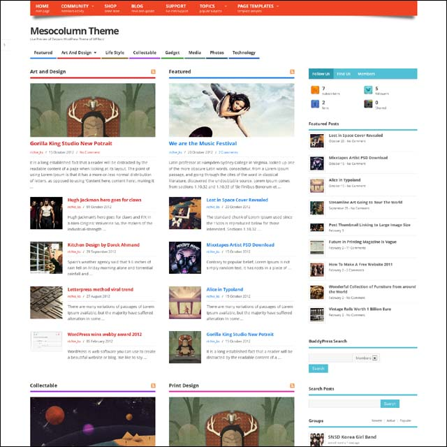 mesocolumn.free .wordpress.theme  40+ Free Responsive Wordpress Themes