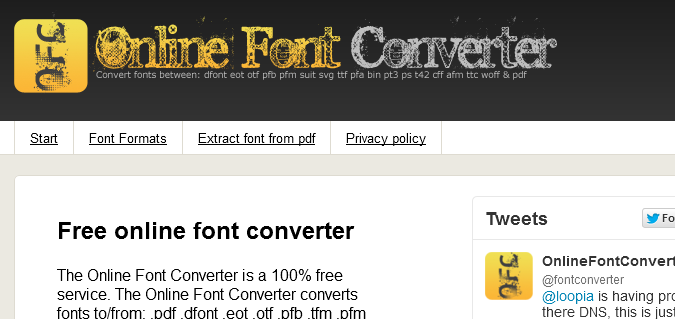 onlinefontconverter.com  List of Different Font Face Generators
