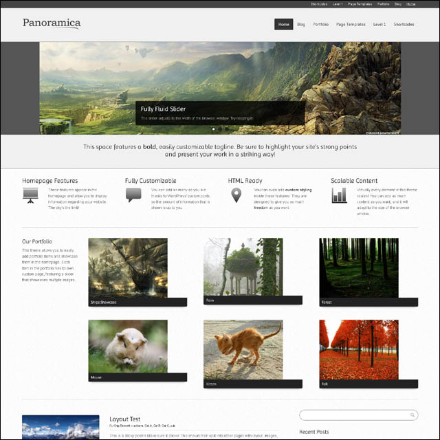 panoramica 40+ Free Responsive Wordpress Themes