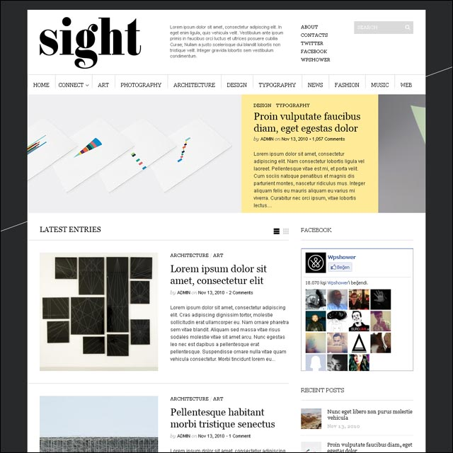 sight.wordpress.theme .free .download.wpshower 40+ Free Responsive Wordpress Themes