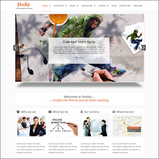 voobis.wordpress.theme  40+ Free Responsive Wordpress Themes