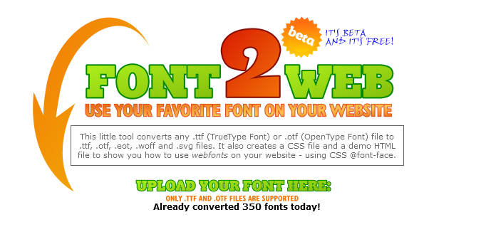 www.font2web.com  List of Different Font Face Generators