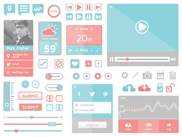 11 20+ UI Kits for Your Flat Web Designs Ideas