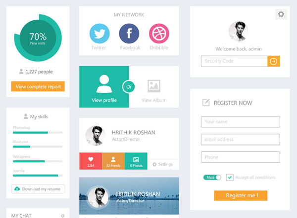 20 ui kits for your flat web designs ideas - Ui Design Ideas