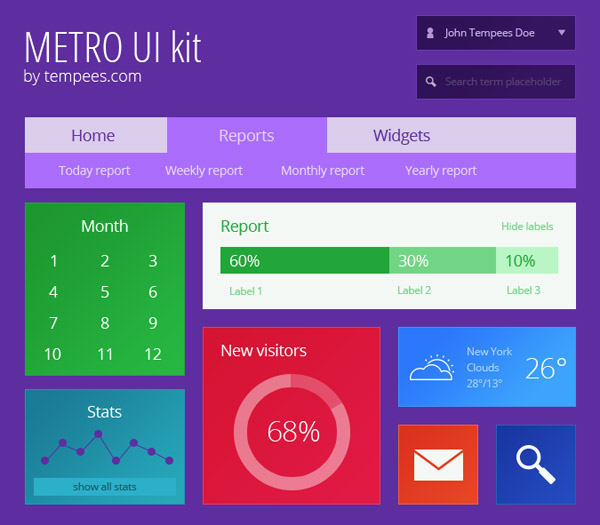 6 20+ UI Kits for Your Flat Web Designs Ideas