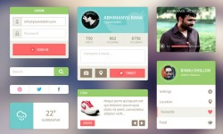 20+ UI Kits for Your Flat Web Designs Ideas