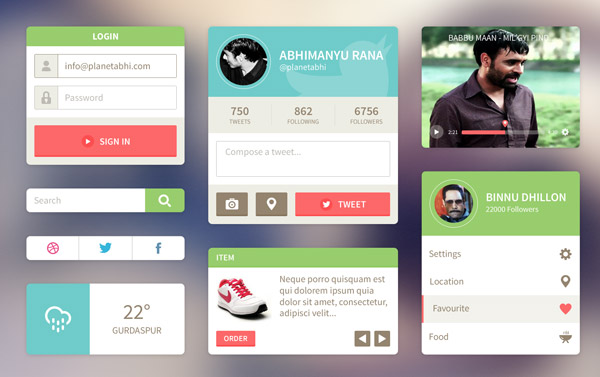 8 20+ UI Kits for Your Flat Web Designs Ideas