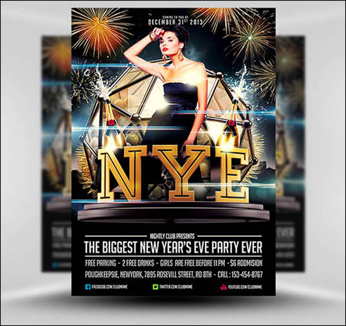 Free NYE Flyer Template by Saltshaker911 20+ Free Photoshop PSD Flyer Templates