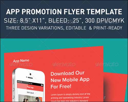 Modern App Flyers 20+ Free Photoshop PSD Flyer Templates