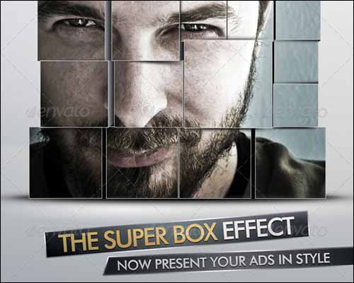 ad and party flyer template with super box effect 20+ Free Photoshop PSD Flyer Templates
