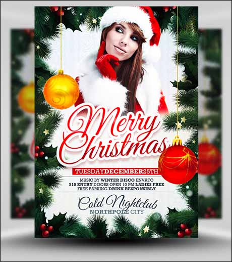 free xmas flyer template 20+ Free Photoshop PSD Flyer Templates