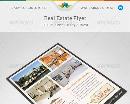 real estate flyer 20+ Free Photoshop PSD Flyer Templates