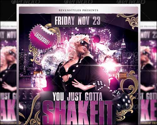 shakeit flyer template 20+ Free Photoshop PSD Flyer Templates