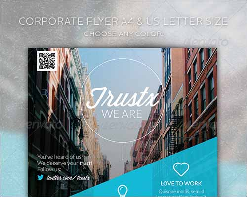 trustx corporate flyer 20+ Free Photoshop PSD Flyer Templates