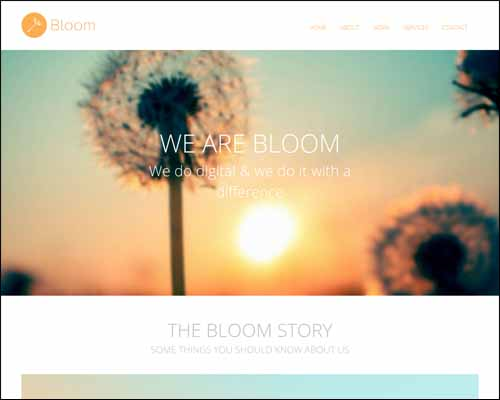 Bloom Portfolio Single Page Responsive Free HTML5 Website Template 20+ Best Free Responsive HTML5 / CSS3 Templates