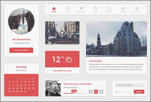 Free Flat PSD UI Kit 30+ Best Free Photoshop PSD UI Kits