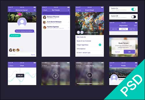 Free UI Set PSD Kit 30+ Best Free Photoshop PSD UI Kits