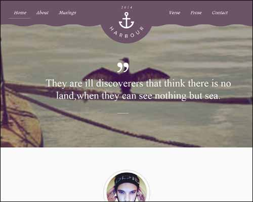 Harbour a Flat Portfolio Responsive Free HTML5 Website Template 20+ Best Free Responsive HTML5 / CSS3 Templates