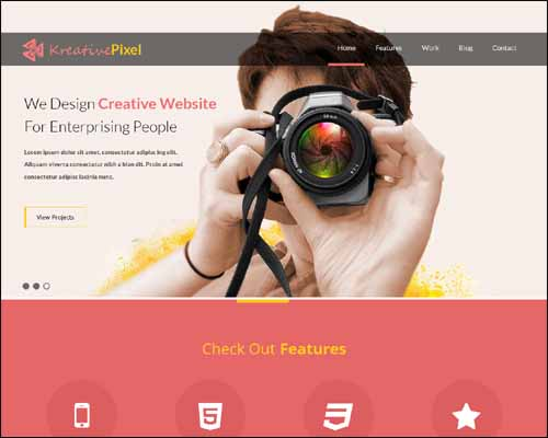 KreativePixel Flat Free HTML5 Website Template 20+ Best Free Responsive HTML5 / CSS3 Templates
