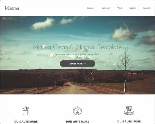Minima Free HTML5 Minimalist Website Template 20+ Best Free Responsive HTML5 / CSS3 Templates