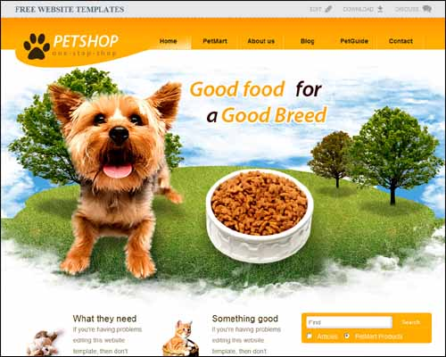 Pet Shop Free HTML5 Website Template 20+ Best Free Responsive HTML5 / CSS3 Templates