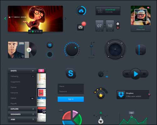 Putty Free Photoshop PSD UI Kit 30+ Best Free Photoshop PSD UI Kits