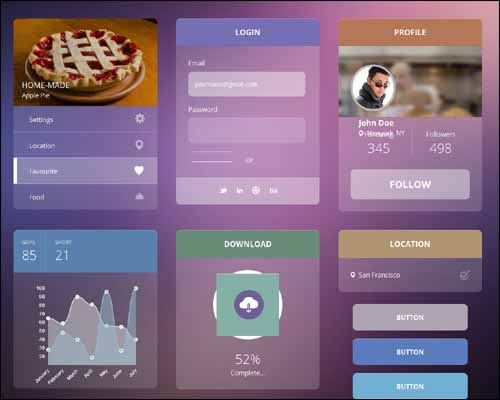 Transparent UI Kit Flat Responsive Free HTML5 Template 20+ Best Free Responsive HTML5 / CSS3 Templates