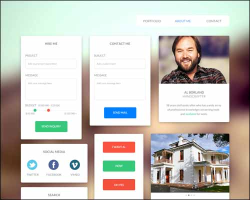 UI Kit For handcrafter and freelancer 30+ Best Free Photoshop PSD UI Kits