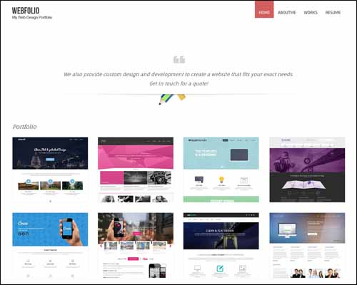 Webfolio a Webdesigner Portfolio Flat Responsive Free HTML5 Template 20+ Best Free Responsive HTML5 / CSS3 Templates