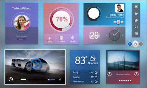 free user interface ui kit with cold colors psd 30+ Best Free Photoshop PSD UI Kits