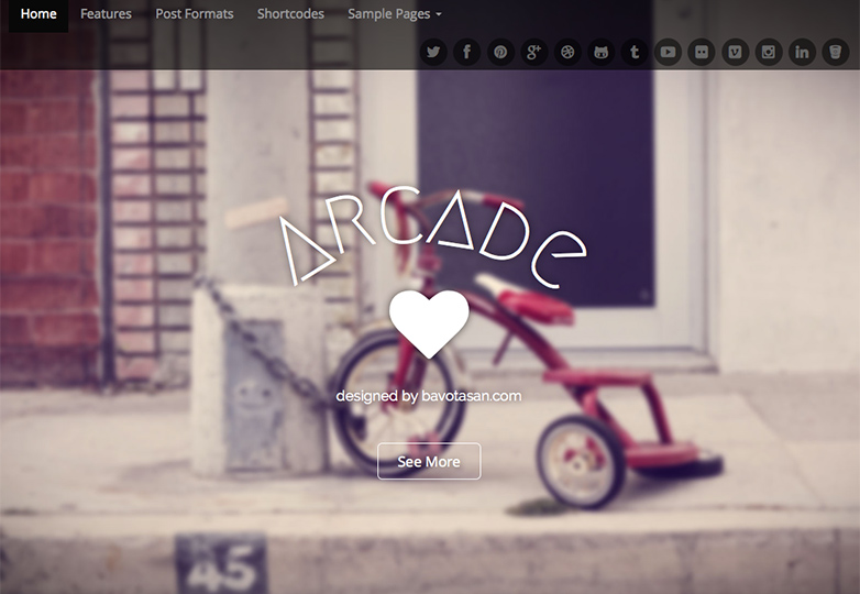 arcade Free WordPress themes for March 2014
