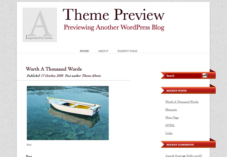 book inspiration Free WordPress themes for March 2014