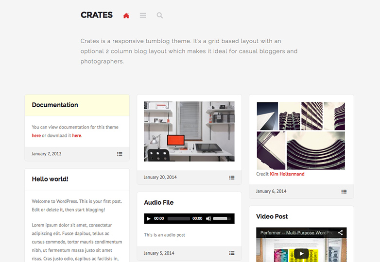 crates Free WordPress themes for March 2014